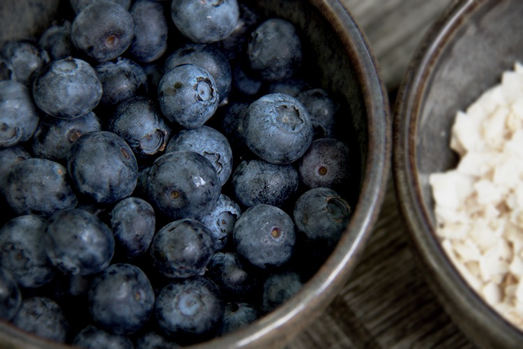 blueberries - coconut