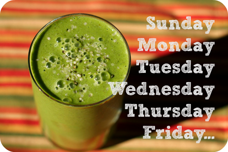 green smoothie - cheat day