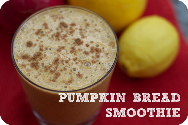 pumpkin bread smoothie