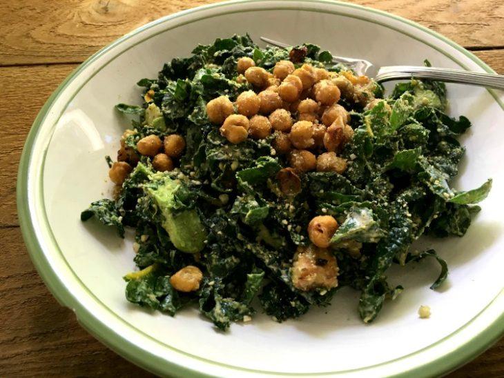 camp kale - caesar salad
