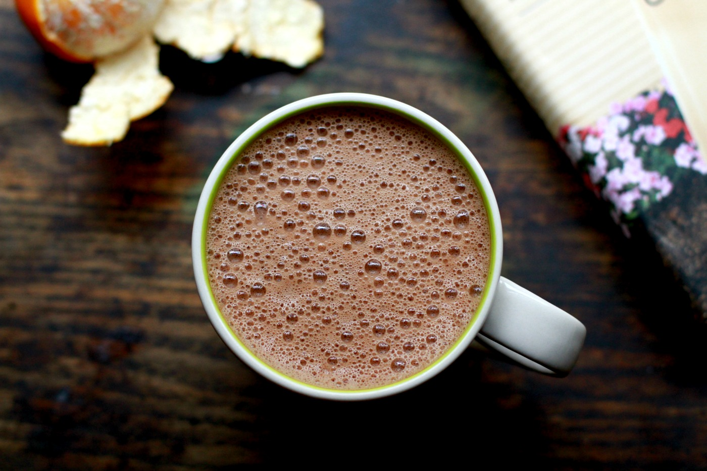 superfood hot chocolate - orange