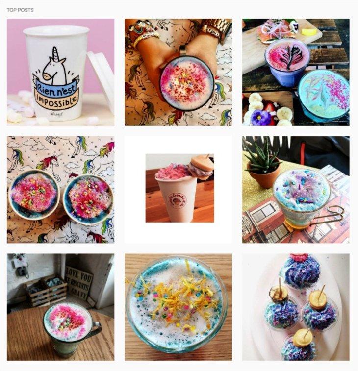 #unicornlatte on instagram