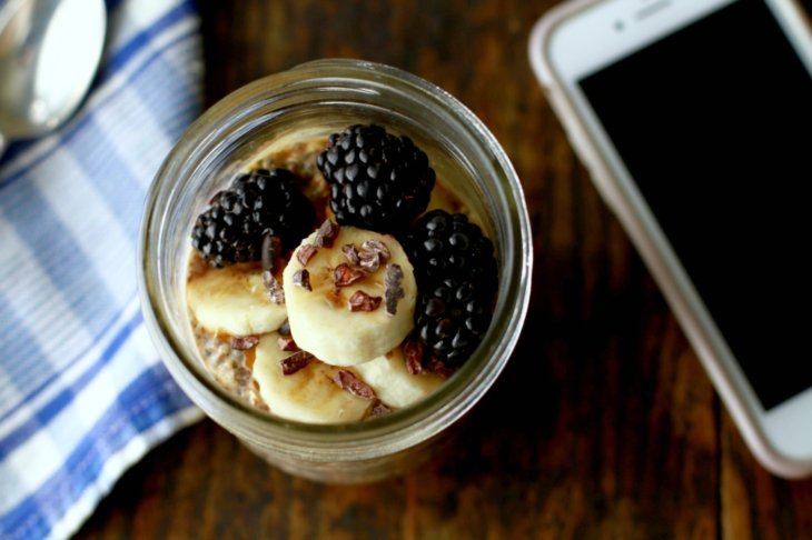 banana walnut overnight oats
