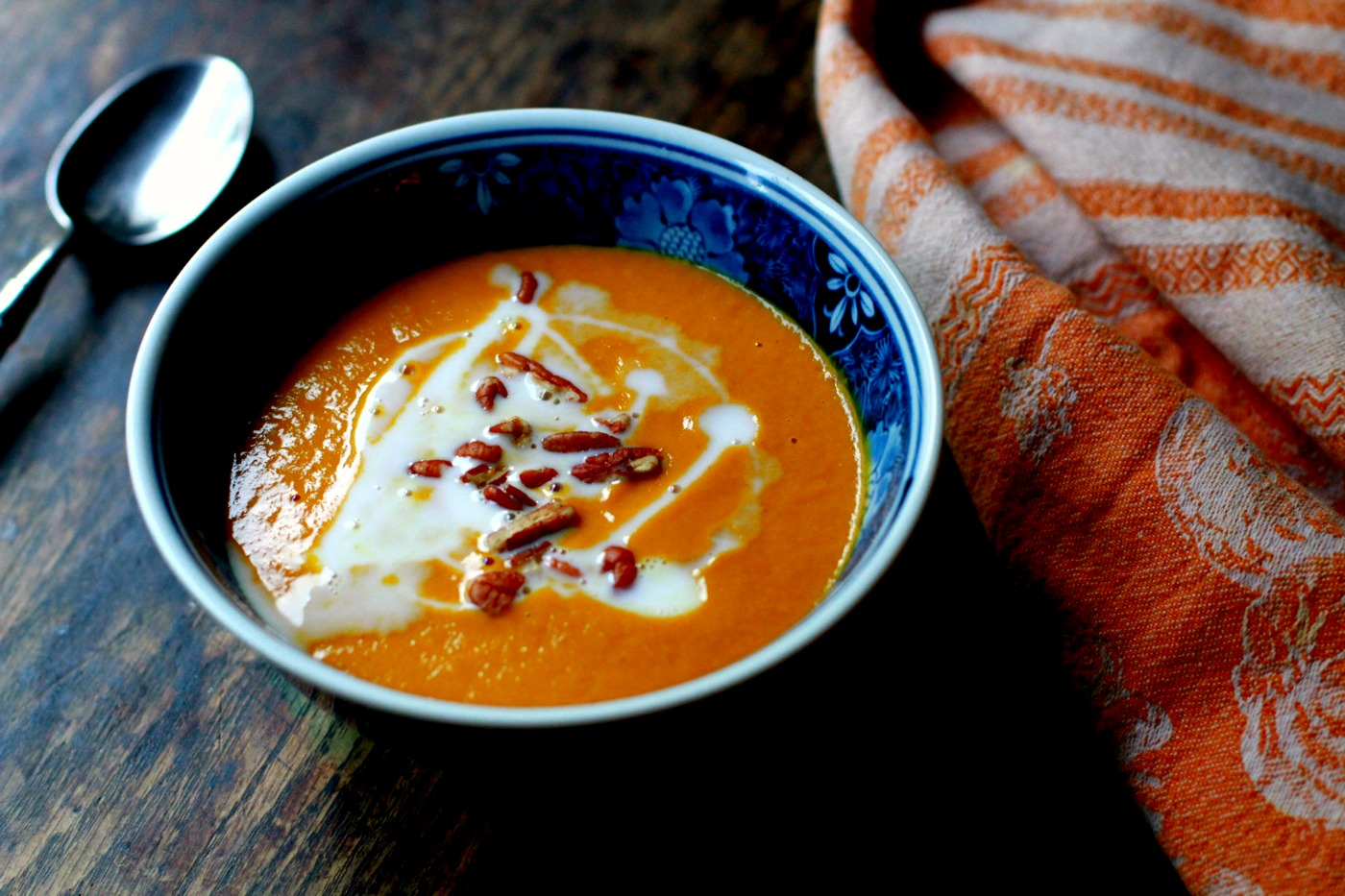 smoky sweet potato bisque