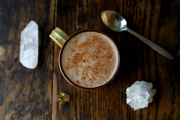 mushroom lattes and crystals