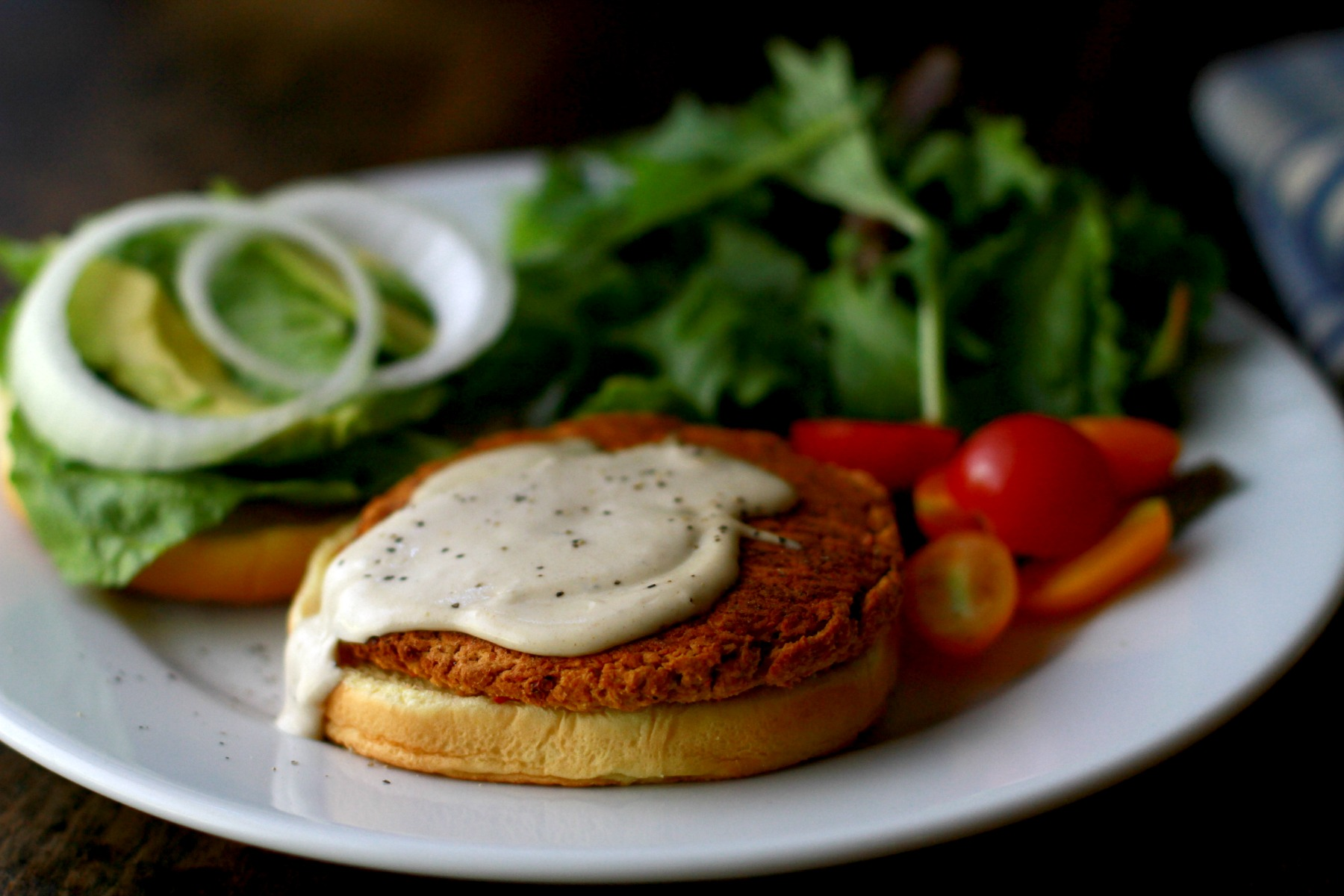 savory chickpea burger