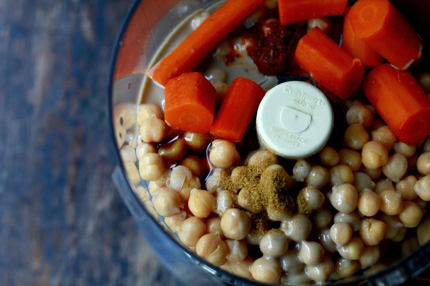 carrot hummus food processor