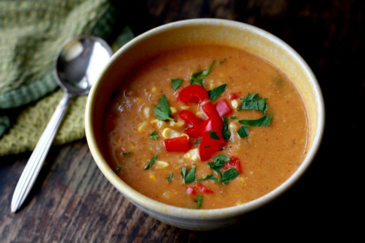 corn red pepper chowder