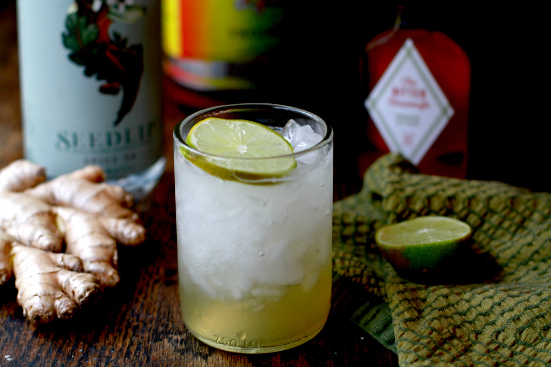 spiced mule mocktail