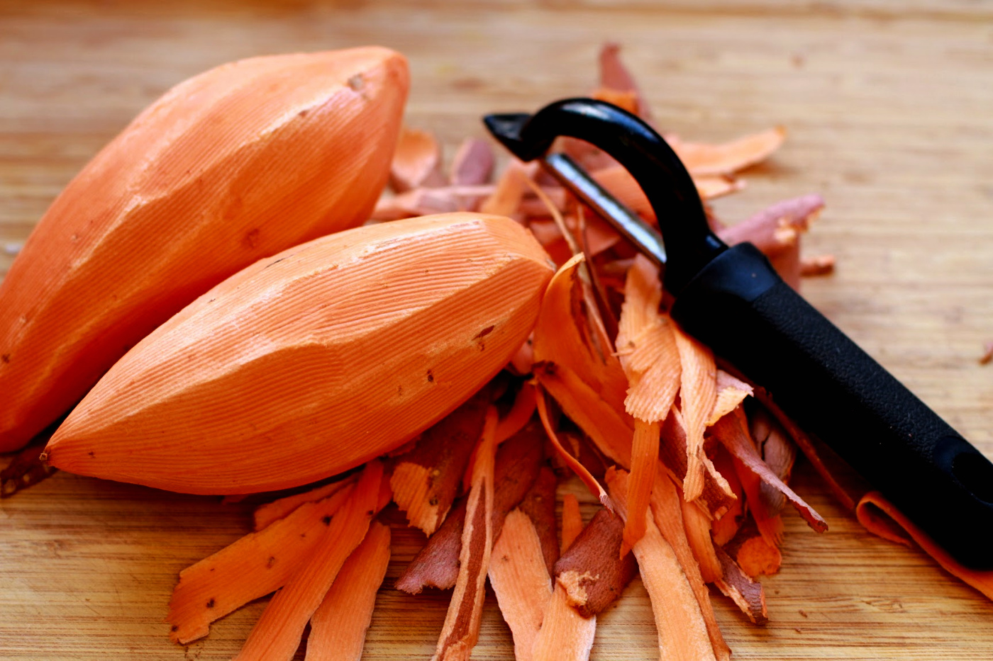 sweet potatoes peeled