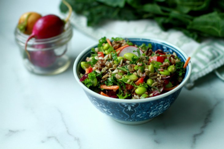 wild rice edamame salad