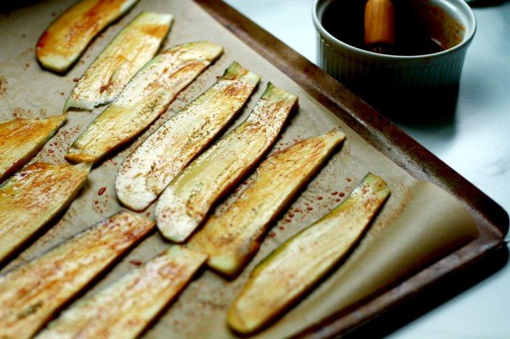 eggplant bacon sheet pan