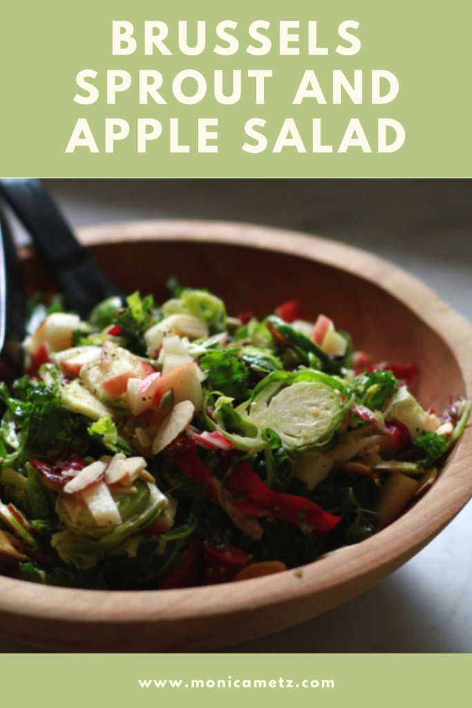 brussels sprout and apple salad pinterest