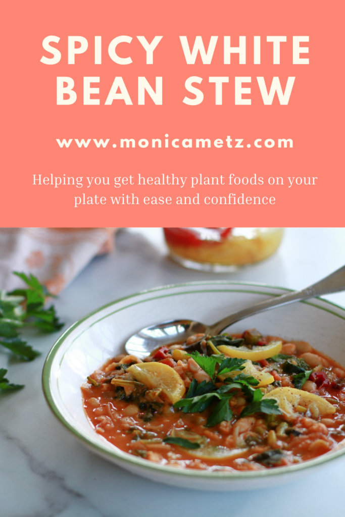 spicy white bean stew with winter greens